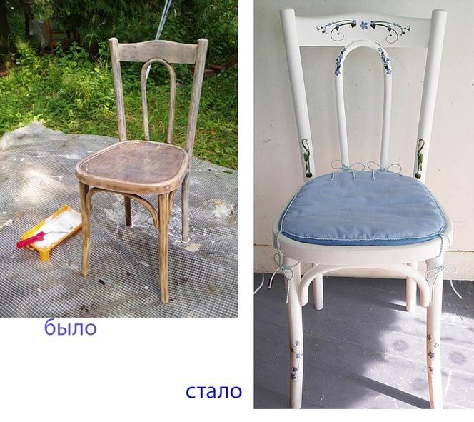 Как обновить деревянные стулья своими руками